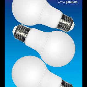 Bombilla garza led estándar 12 w, casquillo e27, 240º, 1060 lúmenes, luz neutra, pack 3 unidades