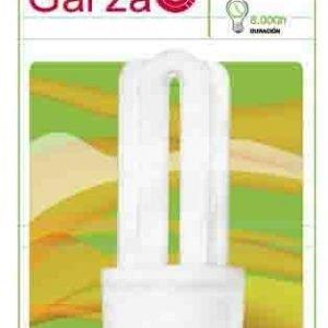 Garza lighting, bombilla fluorescente compacta stick t3 3u 11w e27 550 lúmenes 27k