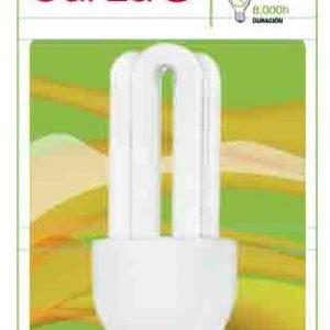 Garza lighting, bombilla fluorescente compacta stick t3 3u 15w e14 800 lúmenes 27k blister