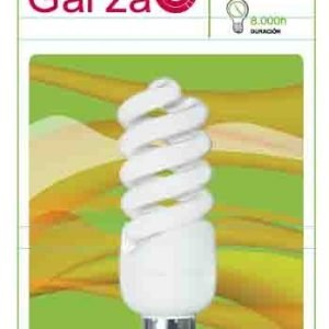 Garza lighting, bombilla fluorescente espiral luz cálida t2 11w e14 580 lúmenes 27k