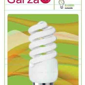 Garza lighting, bombilla fluorescente espiral luz cálida t2 11w e27 580 lúmenes 27k