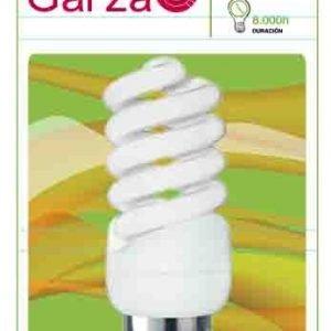 Garza lighting, bombilla fluorescente espiral luz cálida t2 15w e27 880 lúmenes 27k