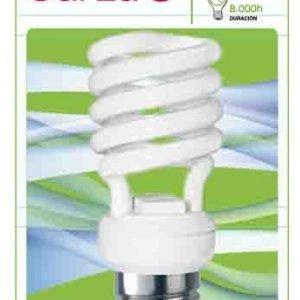 Garza lighting, bombilla fluorescente espiral luz fría t2 18w e27 1250 lúmenes 27k