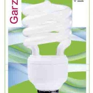 Garza lighting, bombilla fluorescente espiral luz fría t3 23w e27 1380 lúmenes 40k