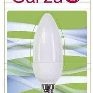 Garza lighting, bombilla vela luz fría t2 7w e14 320 lúmenes 40k
