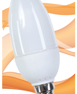 Garza lighting, bombilla vela luz cálida t2 7w e14 320 lúmenes 27k