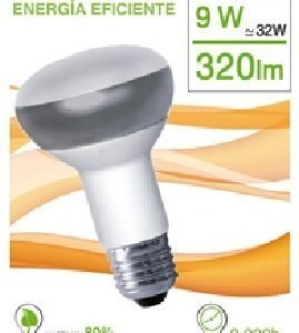 Garza lighting, bombilla reflectante luz cálida r63 9w e27 320 lúmenes 27k