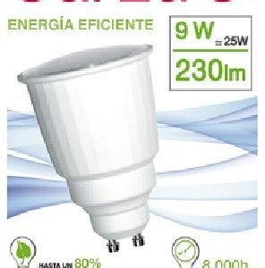 Garza lighting, bombilla reflectante garza luz fría gu10 t2 9w 230 lúmenes 40k