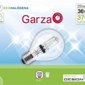 Garza lighting, bombilla eco halógena esférica 28w e14 630 lúmenes