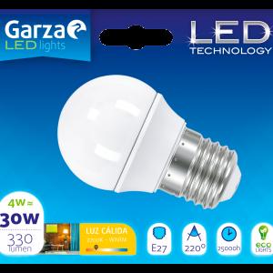 Garza lighting, bombilla esférica led esférica e27 330 lúmenes