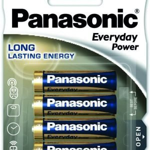 Panasonic everyday power, blister de 4 pilas alkalinas lr06 aa