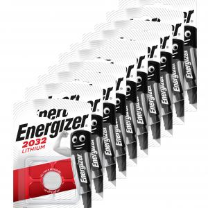 Energizer - pack de 10 pilas cr2032 de litio, 3v