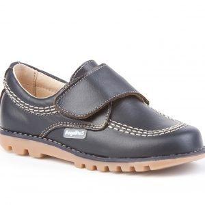 Angelitos, zapato tipo Blucher, con cierre de velcro, en azul marino