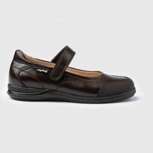 Angelitos, zapatos colegiales de niña, en marrón