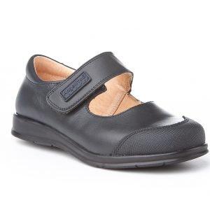 Angelitos, zapatos colegiales de niña, color azul marino, con puntera reforzada