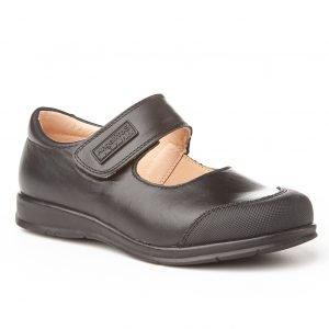 Angelitos, zapatos colegiales de niña, color negro, con puntera reforzada