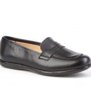 Angelitos, Zapato colegial tipo Mocasín, en azul marino