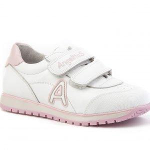 Angelitos, deportiva, con puntera reforzada, en blanco con detalles en rosa