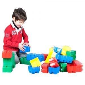 Juego de construcción Bloques gigantes Educativo | Caja de 68 piezas | Mayores de 10 meses