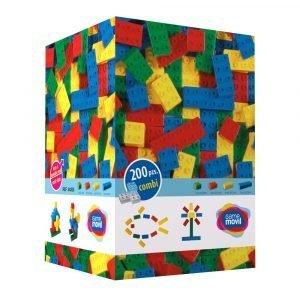 Juego de construcción Combis Educativo | Caja de 200 piezas | Mayores de 18 meses