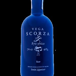 Limoncello Alicantino Vega Scorza 879 Único Appetizer   Botella Azul Edición Limitada 70 cl