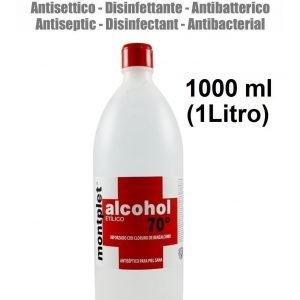 1000 ml (1 litro) alcohol desinfectante anti bacterias etilico 70º reforzado