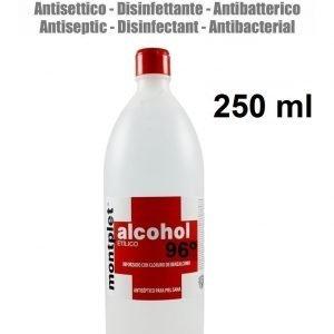 250 ml alcohol desinfectante anti bacterias etilico 96º reforzado