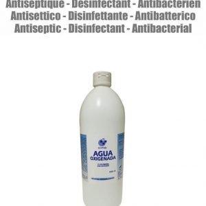 1 litro agua oxigenada peróxido de hidrógeno 3% 10 volúmenes desinfectante antiséptica marca dyns.