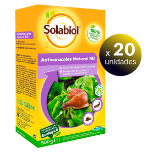 Solabiol cebo granular anticaracoles y babosas natural natria, ferramol anti limacos, 500 grs. pack