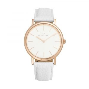 Sognatore pure white rose gold ladies watch / mens watch