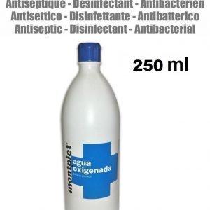 250 ml agua oxigenada estabilizada 16 vol. desinfectante peroxido hidrogeno