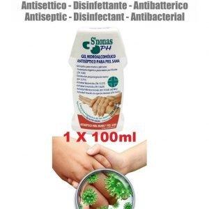100 ml hidroalcoholico antiséptico desinfectante de manos antivirus