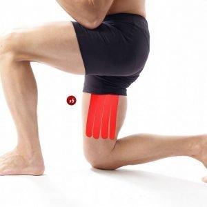 5 x vendaje funcional neuromuscular precortadoparael muslo.