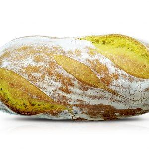 Pan de Cúrcuma y Té Macha 100% Masa Madre | Más Duradero y Tierno | Amasado por Manuela