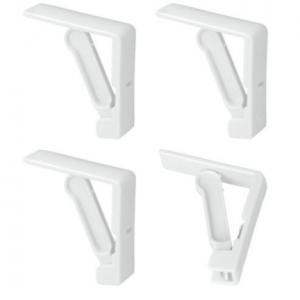 Juego de 4 Sujetamanteles con Muelle Metaltex | Color Blanco | Ideal para Mesas de Restauración Comedor y Terraza
