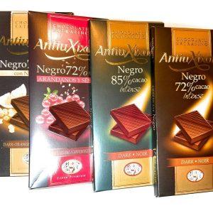 Pack de Chocolates Puros de Antiu Xixona Extrafino