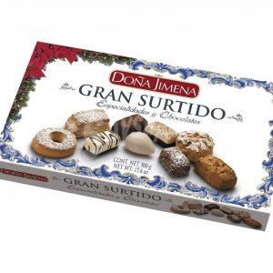 Surtido de especialidades y chocolates de Doña Jimena de 500g