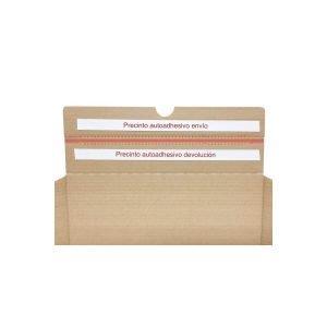 Cajas de Cartón Boomerang Envíos y Devoluciones Ecommerce Pequeña 25x19x8,5 cm Troquelada y Automontable