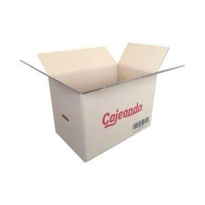 Caja de Cartón Especial Mudanzas CND de Canal Doble Extra 55x35x37 cm | Logo de Cajeando y Asas