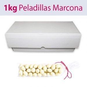 Peladillas blancas de almendra marcona a granel, caja de 1 Kg
